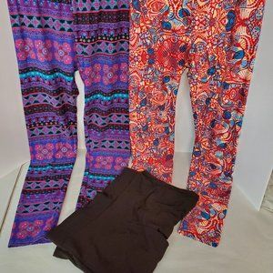 Women's Lot of 3 Leggings Like New Socialogy Lula